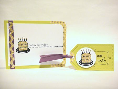 I have a couple more birthday card & tags sets to share today that use some