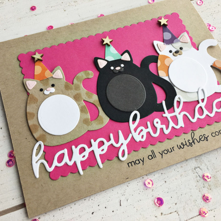 I Added Birthday Hats To Each Of The Cats Like Did On Hanas Tag And Now This Card Is All Ready For A Cat Party